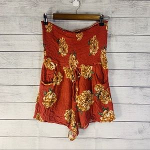 Band of Gypsies Floral Short Sleeveless Romper M